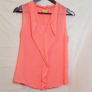 Princess Vera Wang Pink Sleeveless Sheer Blouse M
